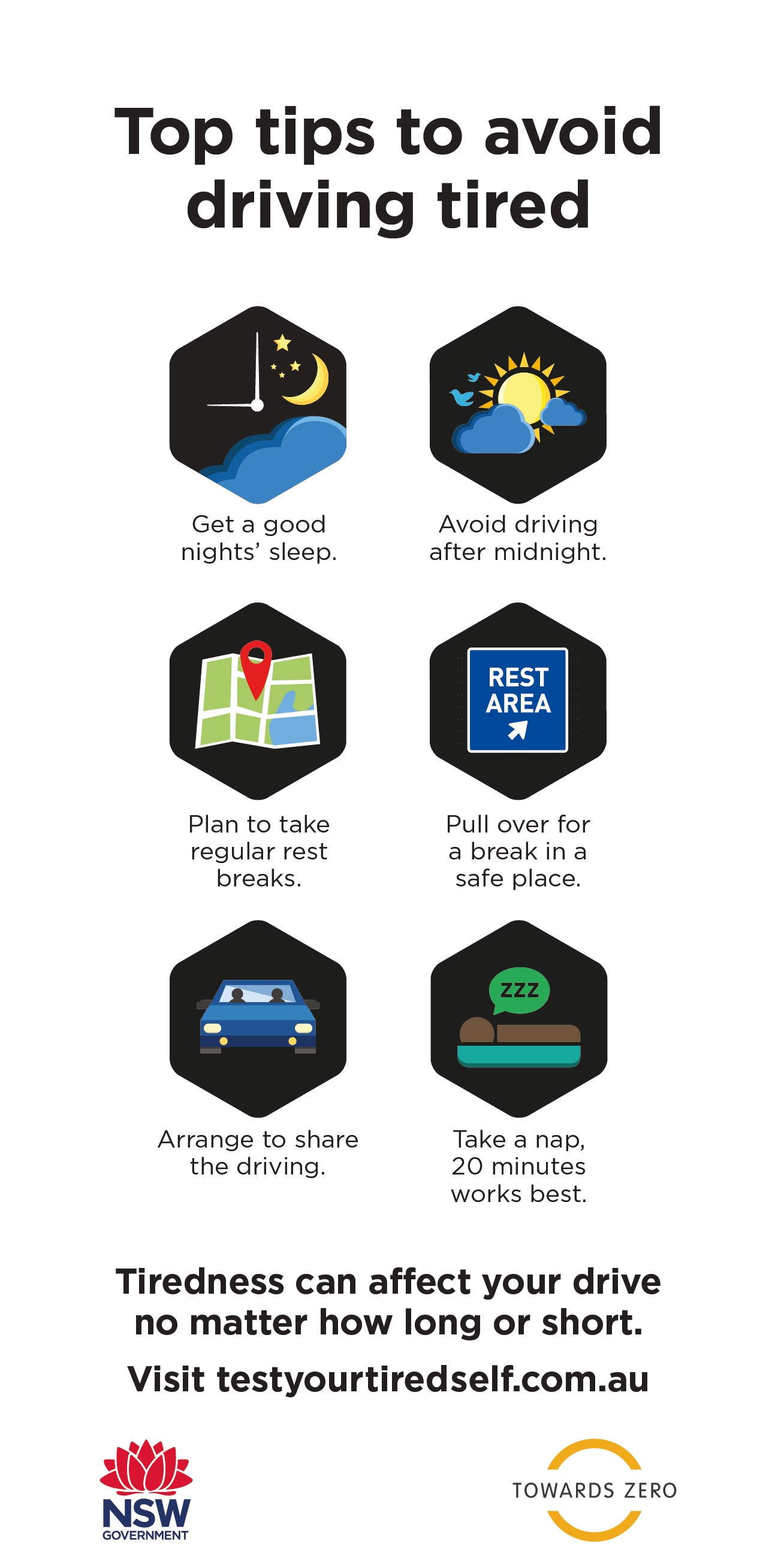 Top tips to avoid driving tired