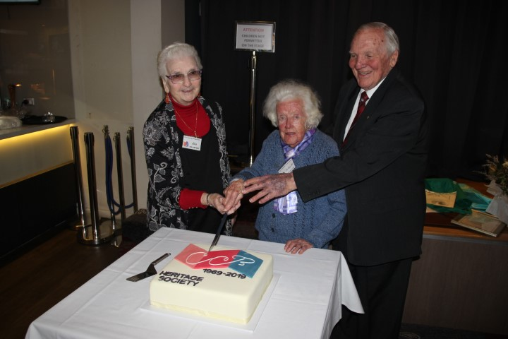 (L to R) Lois Michel, Betty Robertson OAM, Alan Wright OAM at the City of Canada Bay Heritage Society 50th anniversary celebration.