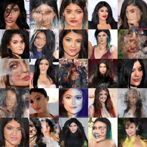 Collage of computer generated images of Kylie Jenner, by Gen Collier