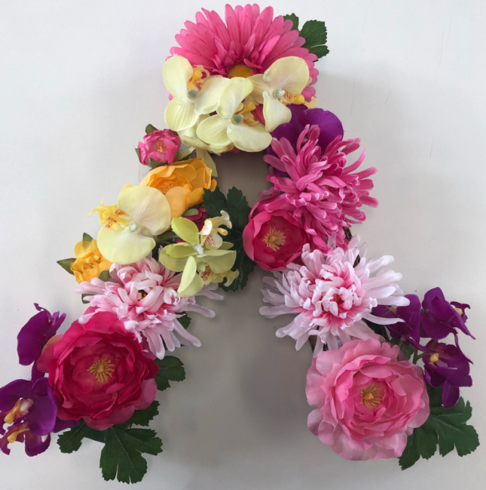 School Holiday Fun for Youth: Floral Initial Craft Workshop