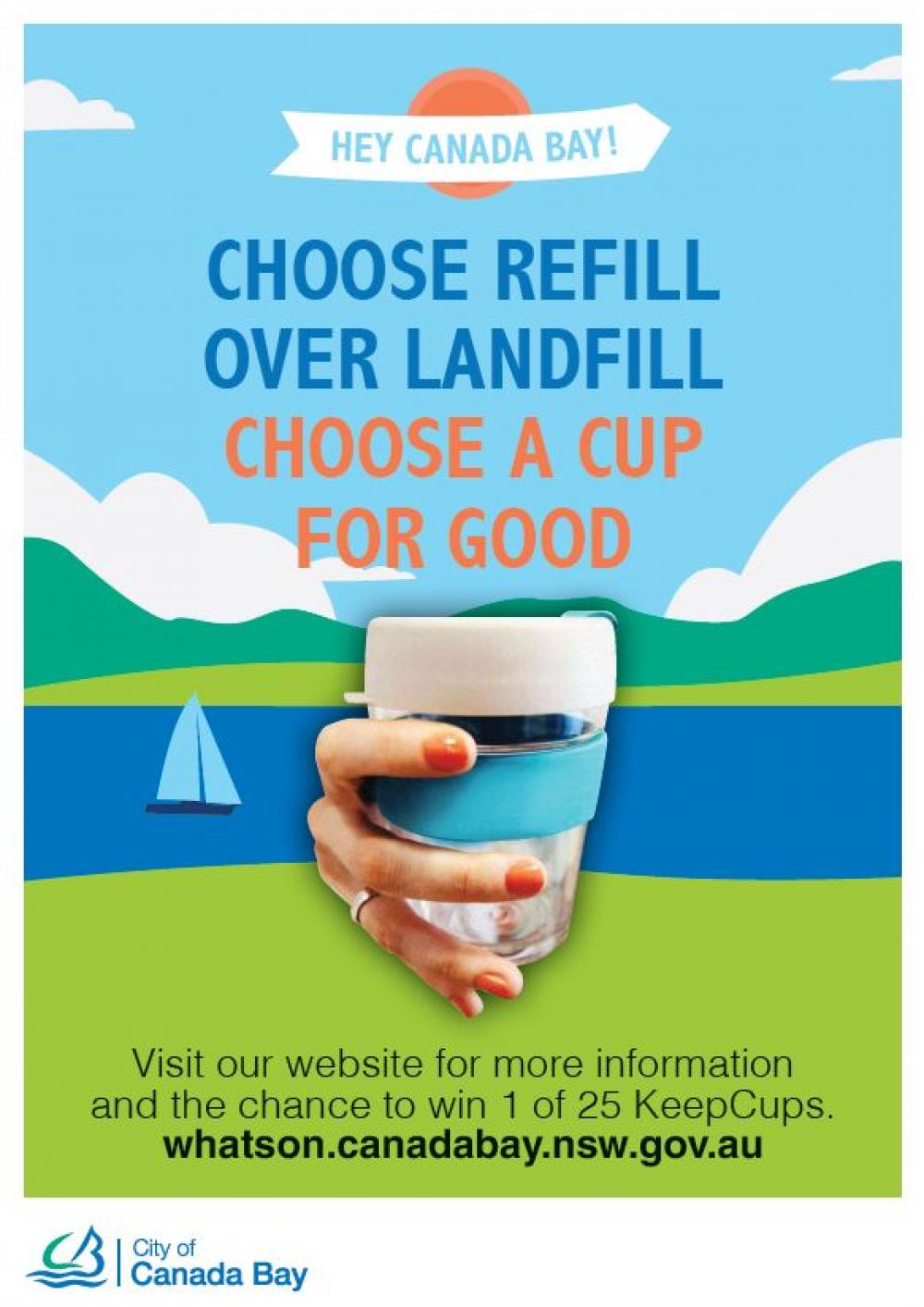 Choose refill over landfill and win!