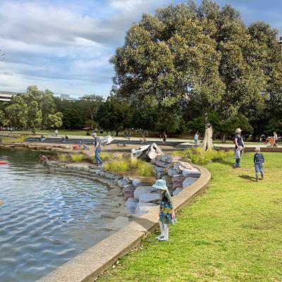 Parramatta River opens its shores