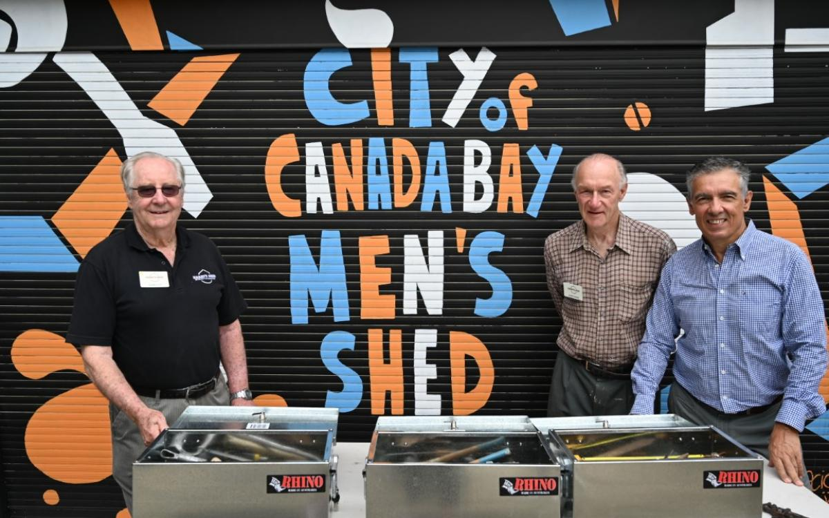 City of Canada Bay Men's Shed supports fire affected neighbours in need